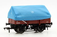 5 Plank China Clay Wagon with Tent Hood BR Bauxite