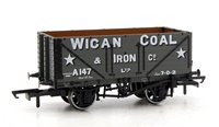 Oxford Rail OR76MW7017 7 Plank Mineral Wagon - Wigan Coal & Iron Co A147