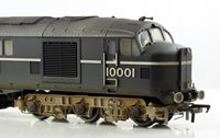 Custom Finished Bachmann OO 31-999XSFW LMS Twin 10001 BR Black/Chrome Diesel Locomotive Weathered & DCC Fitted with Sound!