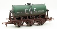 Dapol 4F-031-026 6 Wheel Milk Tank CWS Weathered