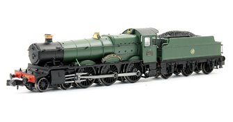 "Class 6800 4-6-0 6820 ""Kingstone Grange"" in GWR green with shirtbutton emblem"