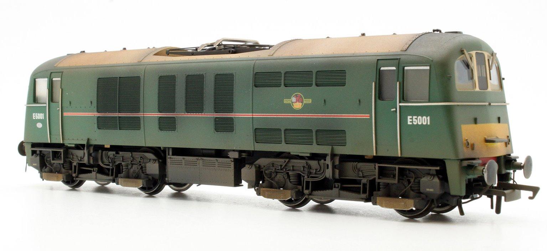 Custom Finished Class 71 - E5001 BR Green Locomotive Weathered