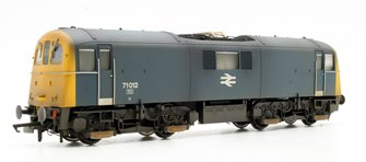 Custom Finished Class 71 012 BR Blue Electric Locomotive Weathered