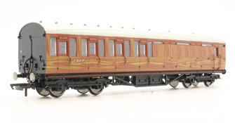 LNER Thompson Non-corridor 3rd Class Brake Coach, Teak '87019'