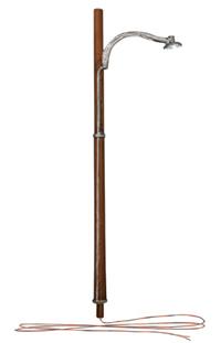 Wooden Pole Street Lights - N Scale
