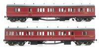 Dapol LHT-605 Suburban B 2 Coach Set BR Bristol Division 48 Maroon