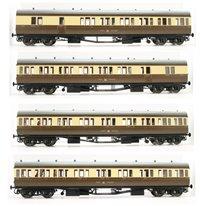 Dapol LHT-622 Suburban B 4 Coach Set GWR Birmingham Division 46 C/Cream