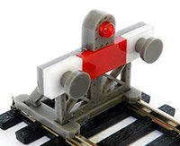 2 X HO 1:87 Scale Laser-Cut Buffer Stop Kit w/Light