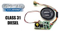 Hornby TTS Digital Sound Chip (8pin) with Class 31 Diesel Sounds *2017 Range*