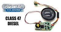 Hornby TTS Digital Sound Chip (8pin) with Class 47 Diesel Sounds *2017 Range*