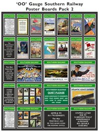 Southern Railway Poster Boards Pack 2