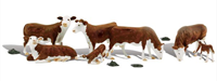 Scenic Accents - Hereford Cows - HO Scale