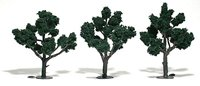 Dark Green Trees 4 - 5 inch (Pack of 3)