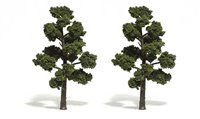 Medium Green Trees 5 - 6 inch (Pack of 2)