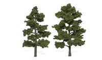 Medium Green Trees 6 - 7 inch (Pack of 2)