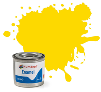 Humbrol 69 Yellow Gloss - 14ml Enamel Paint
