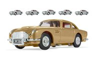 Corgi box of six James Bond 007 Aston Martin DB5 Thunderball 50th Anniversary (one gold, five silver)