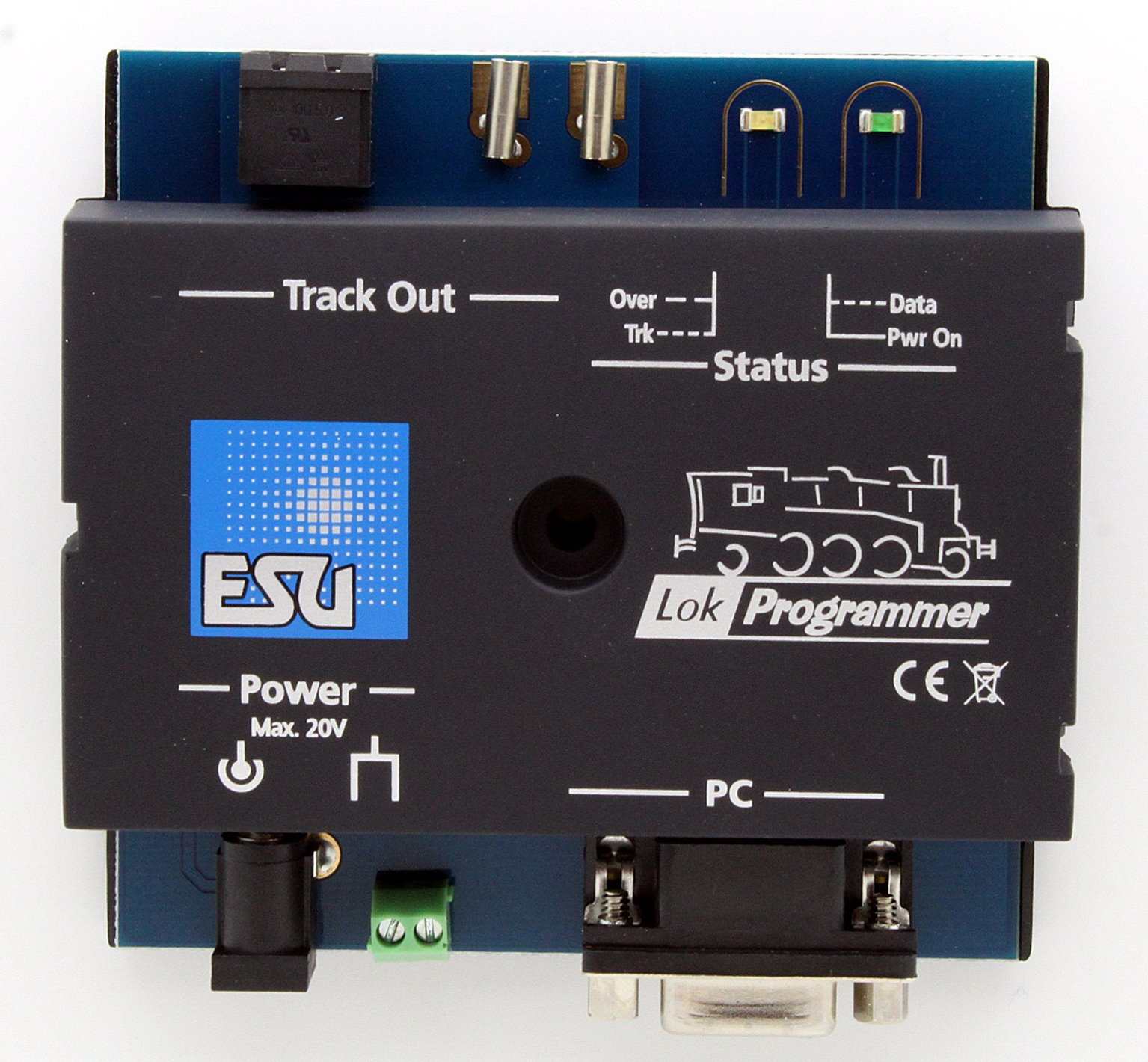LokProgrammer unit with power supply, serial PC cable, manual, software CD, USB adapter