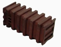 Brown ribbed bulk waste container