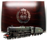 BR Green 'Silver Jubilee' Jubilee Class 4-6-0 Steam Locomotive 45552 with wooden presentation box